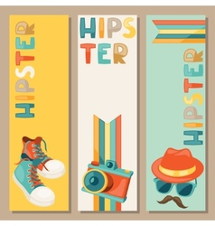 Hipster style vertical banners vector