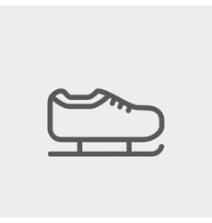 Ice skate thin line icon vector image
