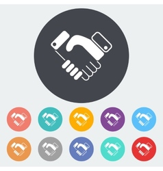 Icon agreement vector image