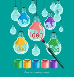 idea and creativity vector image