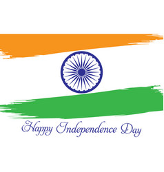 indian independence day celebrations on 15th vector image