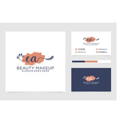 Initial ea feminine logo collections and business vector