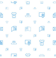 Invitation icons pattern seamless white background vector