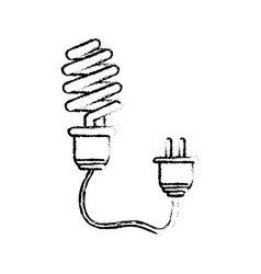 Line save bulb with power cable vector