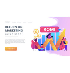 Marketing investment concept landing page vector
