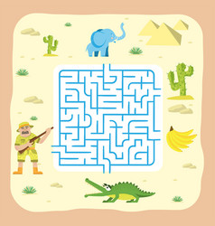 maze game kids brain training education riddle vector image