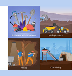 mining inductry flat design concept vector image