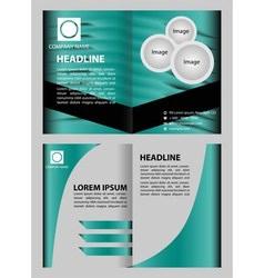 Modern brochure design vector