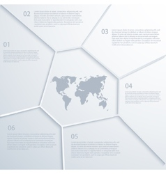 modern map infographic vector image