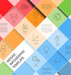 Mosaic infographic template - pastel colors vector