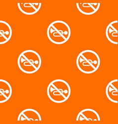 no horn traffic sign pattern seamless vector image