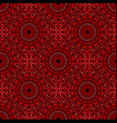 Oriental dark red abstract floral pattern vector