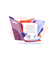 Paper for new business contract vector