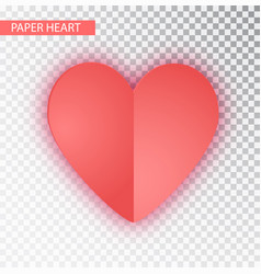 paper heart isolated heart valentine s vector image