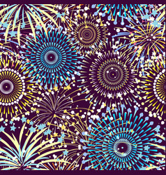 pattern or background with fireworks vector image