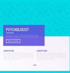 Psychologist concept with thin line icons vector