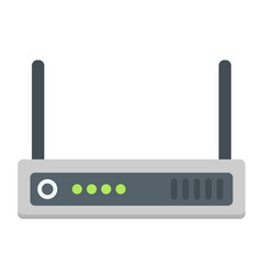 Router flat icon internet and wireless wifi vector