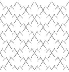 Scythe seamless pattern vector