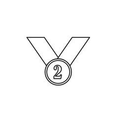 second place icon vector image