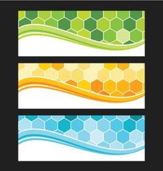 set wave background banner or header vector image