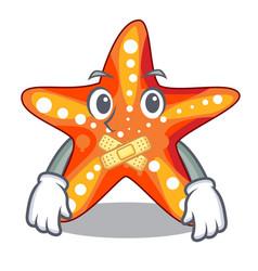 silent underwater sea in the starfish mascot vector image