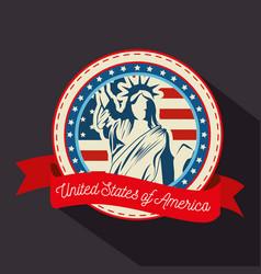 Statue liberty sticker vector