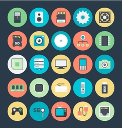 Technology and Hardware Colored Icons 1 vector