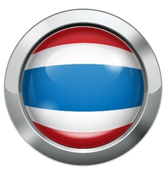 Thailand flag metal button vector image