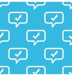 Tick mark message pattern vector image
