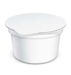 White blank plastic container vector