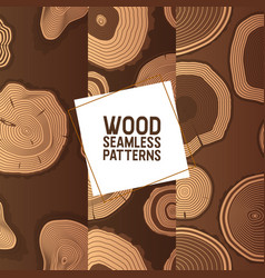 wood seamless pattern wooden circle rings vector image
