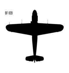 world war ii - messerschmitt bf 109 vector image