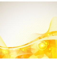 Abstract triangles lines pattern yellow frame vector image vector image