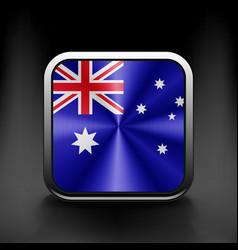 Australia flag national travel icon country symbol vector image