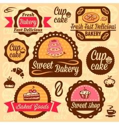 Bakery goods labels vector