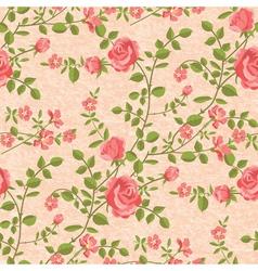 Bloomen roses seamless pattern vector image