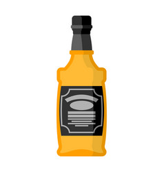 bottle of whiskey bourbon isolated tequila on vector image vector image