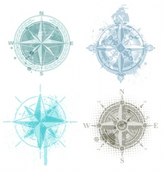 compass roses vector image vector image