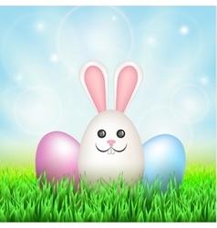 Easter eggs rabbit vector image vector image