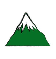mount fuji japan landscape natural image vector image vector image