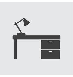 Office desk icon vector image