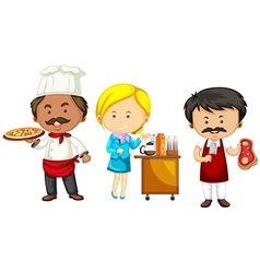 Set of different occupations vector image vector image
