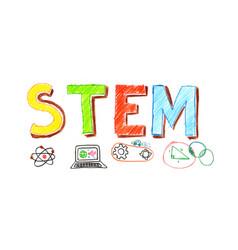 stem word banner vector image vector image