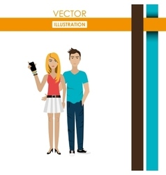 young people design vector image vector image