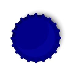 Blue bottle cap vector image vector image