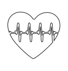 figure symbol heartbeat icon stock vector image vector image