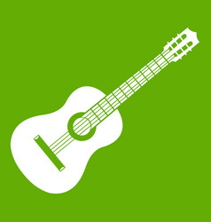 guitar icon green vector image
