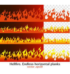 hellfire flame elements for the endless border vector image vector image