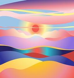 Stok vektor landscape sun vector