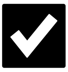 valid flat icon vector image vector image